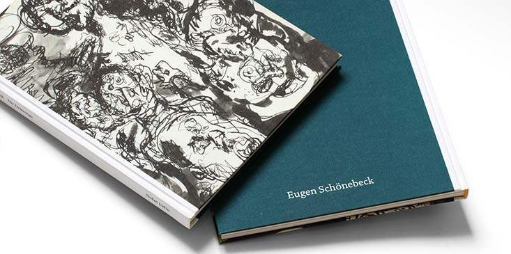 Eugen Schoenebeck book design for Gallery Judin Berlin by Jakob Straub